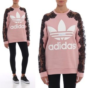 Stella McCartney Adidas Lace Sleeve Sweatshirt L